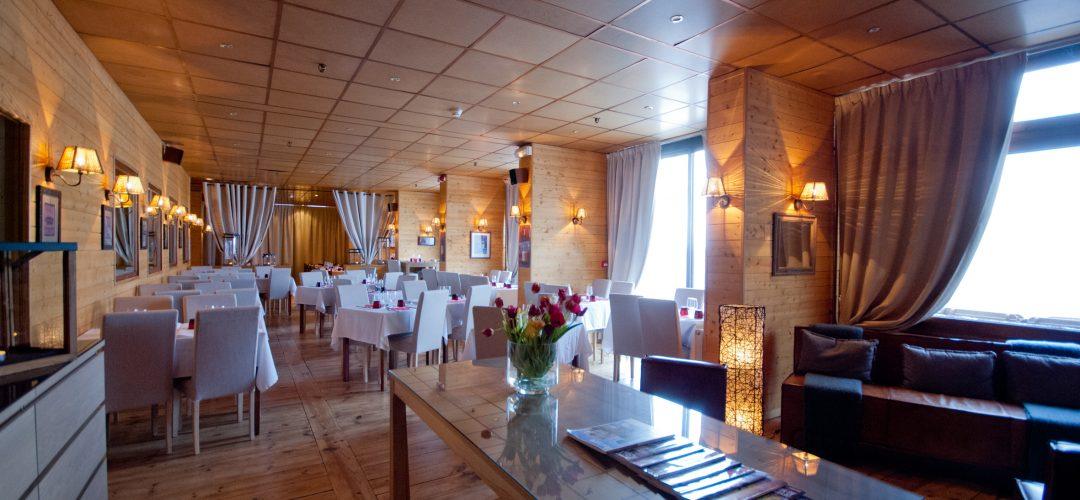 Photo de la salle du restaurant de l'hôtel La Mandia, La Mongie, Grand Tourmalet, Pyrénées