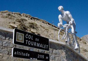Sur la route du col du Tourmalet