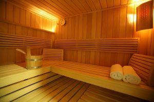 Sauna sur demande à la réception